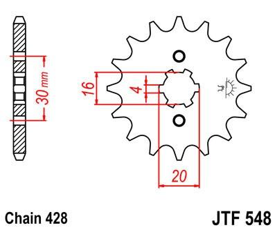 JT звезда передняя (JTF 548-14)