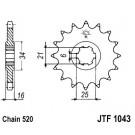 JT звезда передняя (JTF 1043-14)